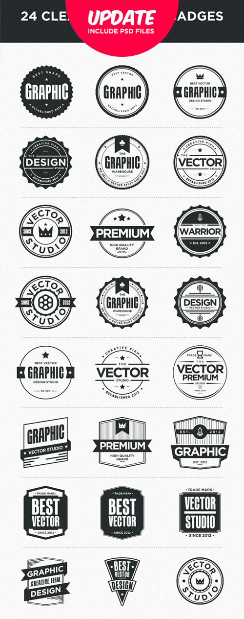 24 Clean Badges