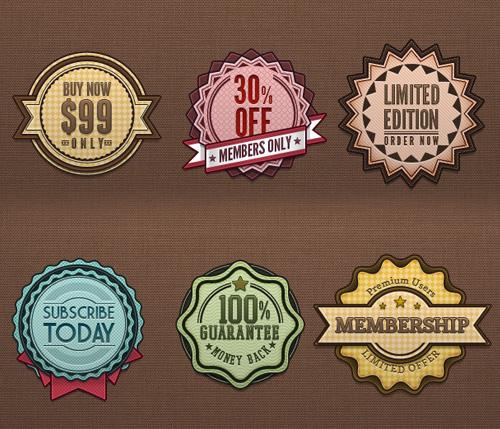 Retro Badges Vintage