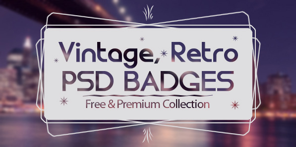 15 Modern Vintage, Retro PSD Badges
