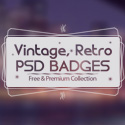 Post thumbnail of 15 Modern Vintage, Retro PSD Badges