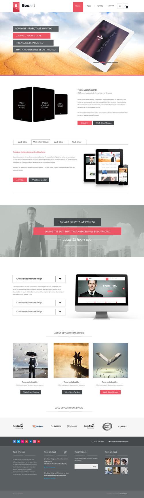 Booard - Corporate PSD Template