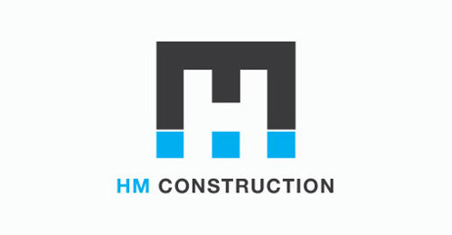 H.M. Construction Identity #logo #design