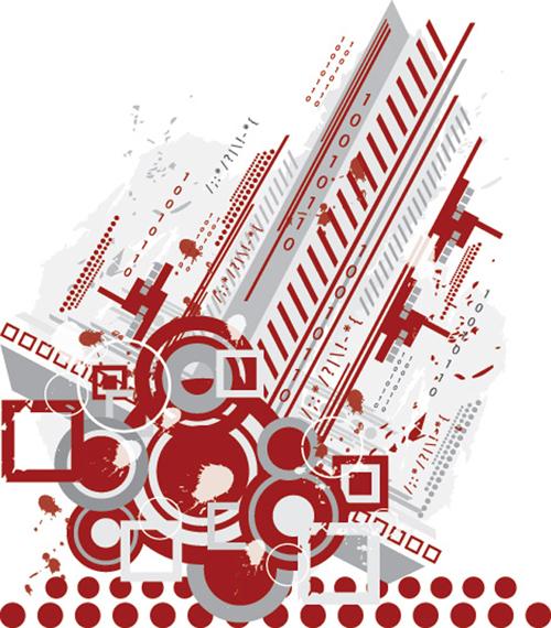 Tech Background vector Graphics - 19
