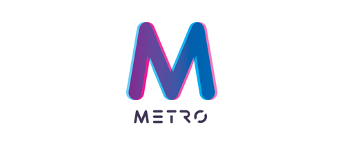 Metro rail #logo #design