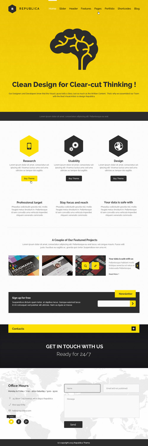 Republica - Responsive Corporate WordPress Theme