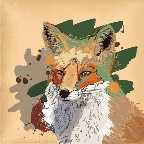Brown Fox Vector Graphic - 22
