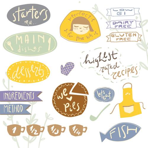 Recipe Stickers Vector Graphic - 32