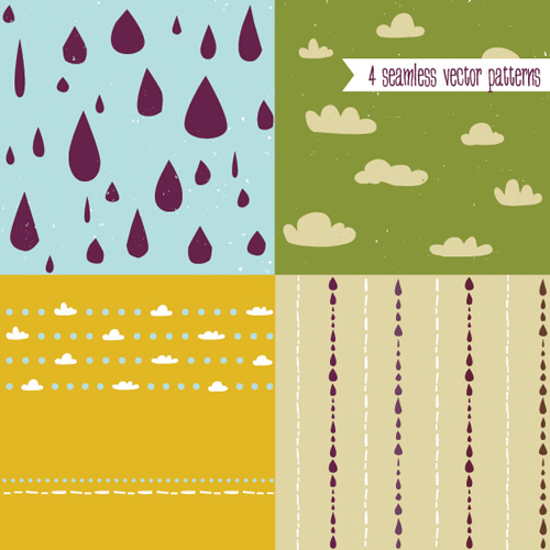 Cute Vector Patterns Vector Graphic - 34