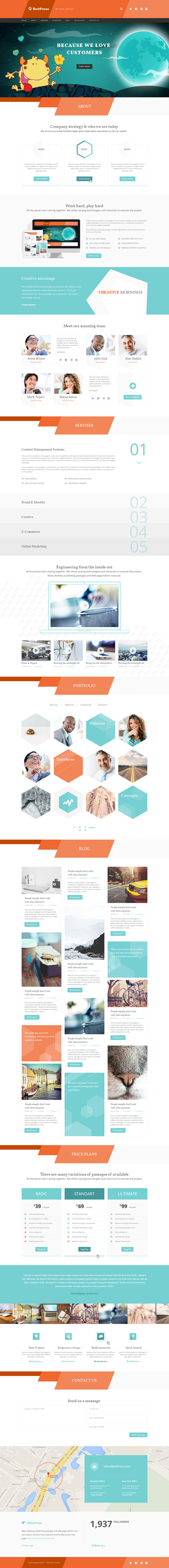 BestPress - Creative Landing Page