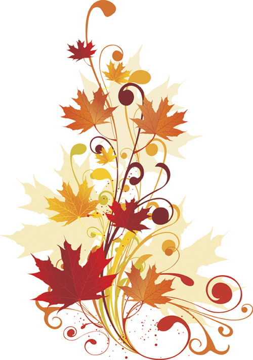 Colorful Autumn Lines Vector graphics - 4