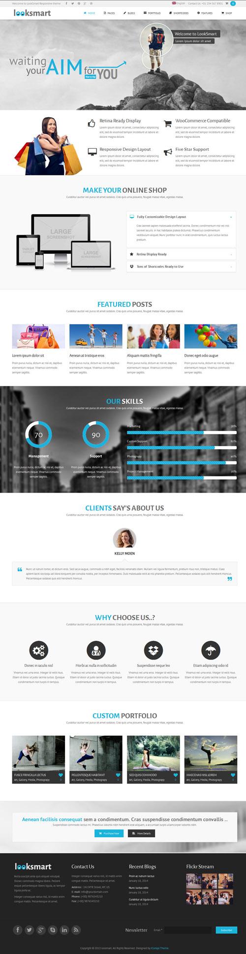 LookSmart - Retina Responsive WordPress Theme