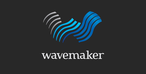 Wavemaker Logo & Visual Identity #logo #design