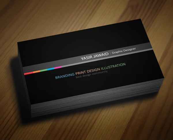 Creative business card black back