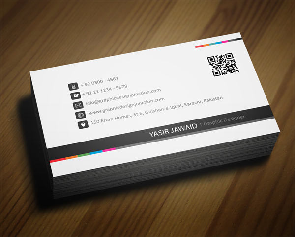 Creative business card white front