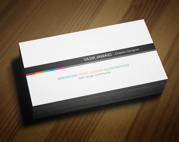 Creative business card white back