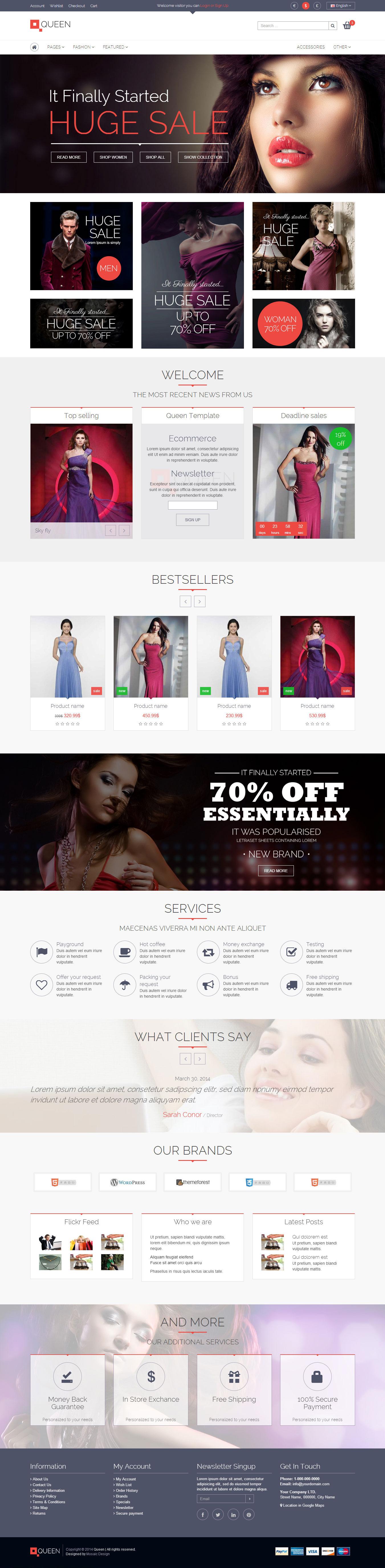 Queen - Responsive E-Commerce Template