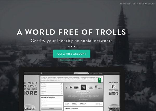 Usertify World free of trolls #flatdesign #website