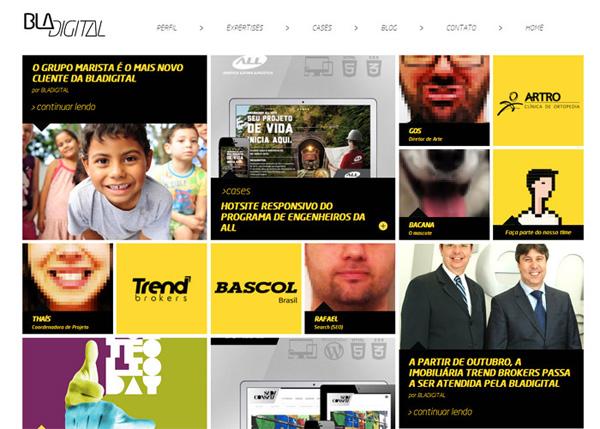 Bladigital #flatdesign #website