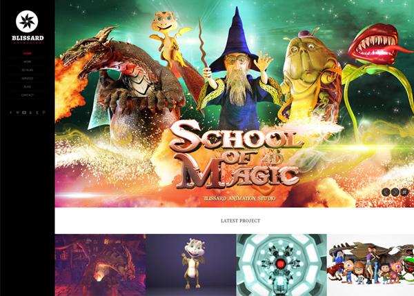 Blissard Animation Studio #flatdesign #website