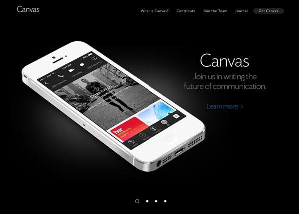 Canvas #flatdesign #website