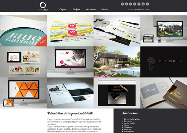CARTEL BELLI #flatdesign #website