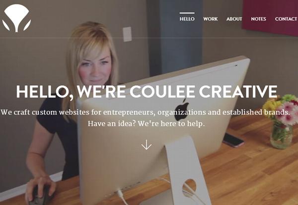 Coulee Creative #flatdesign #website