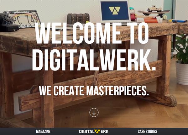 Digitalwerk #flatdesign #website
