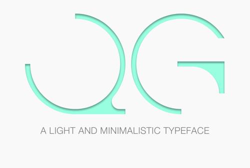 QG (Light & Minimalistic) Typefaec