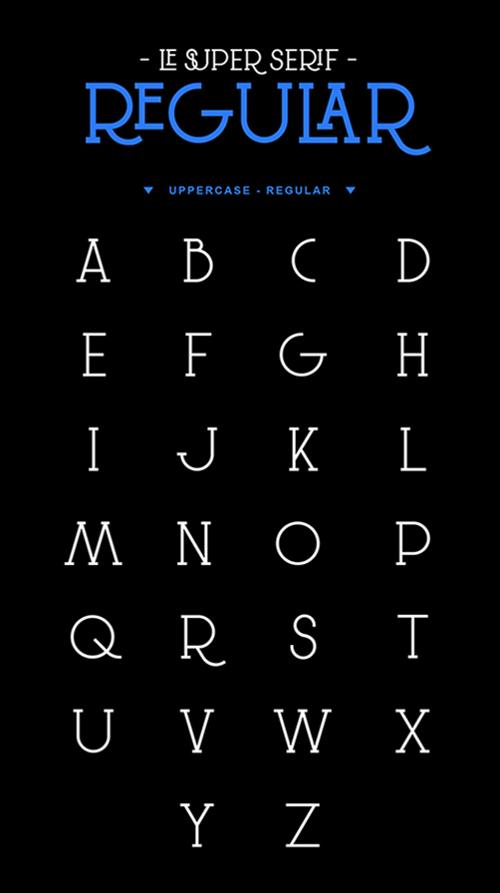 Le Super Serif Typeface