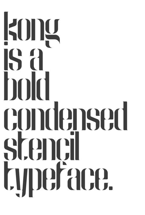 Kong Free Typeface