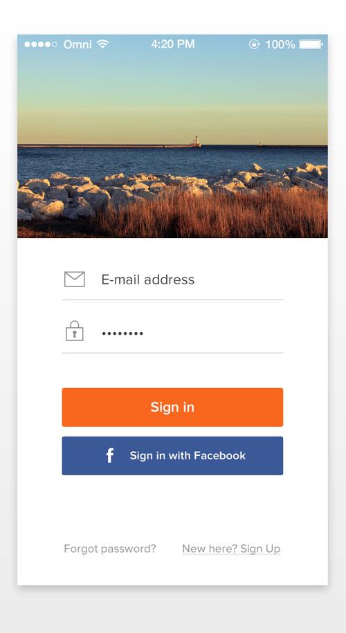 App Sign In Screens