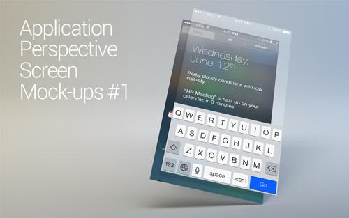 App Perspective Screen Mock-ups