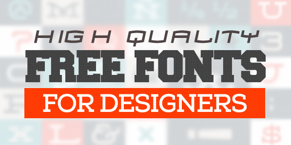 12 Latest Free Fonts for Designers