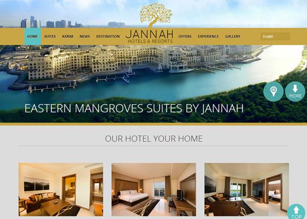 Jannah Hotels & Resorts #flatdesign #website