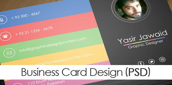 Free Modern Business Card Mockup (PSD)