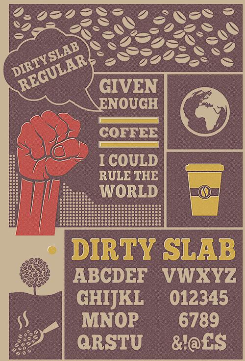 Free Font Dirty Slab