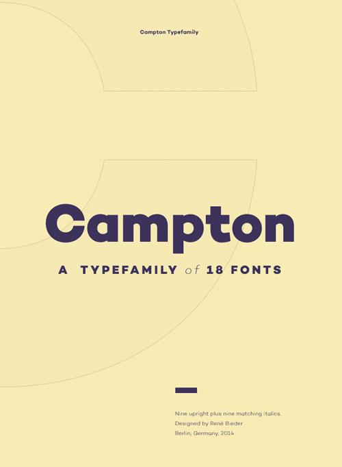 Free Font Campton
