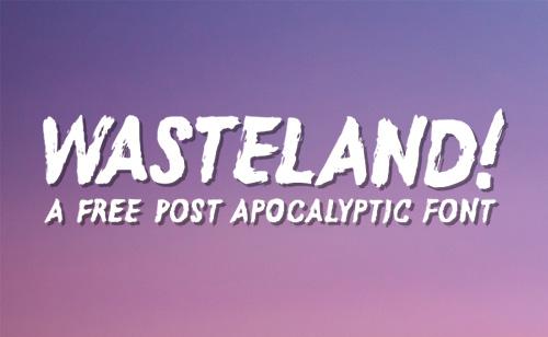 Free Font Wasteland