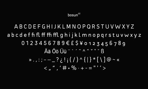 Free Font Bosun