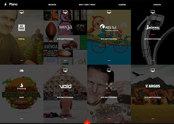 Plano Transmedia #flatdesign #website