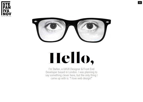 Stef Ivanov #flatdesign #website