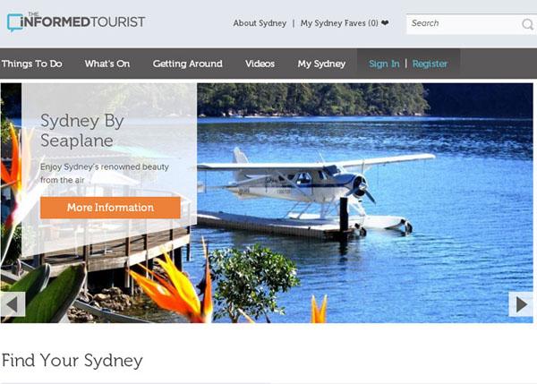 The Informed Tourist #flatdesign #website
