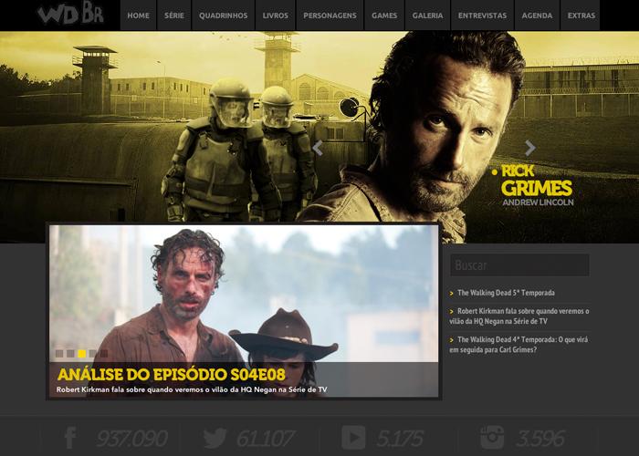 Walking Dead Br #flatdesign #website