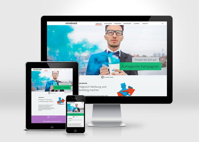 Werbeagentur mindmelt #flatdesign #website