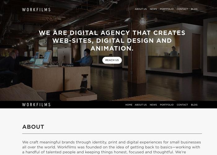 Workfilms #flatdesign #website