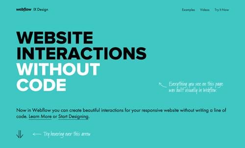 Webflow Interactions