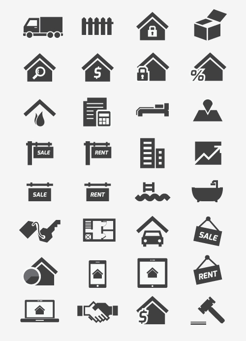 Free Real Estate Icons (34 Icons)