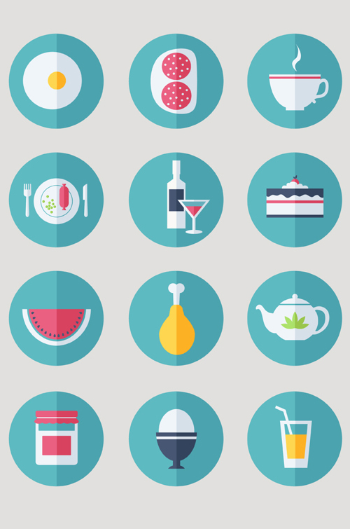 Food Icons Set (12 Icons)