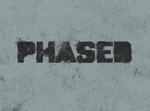 Phased Font