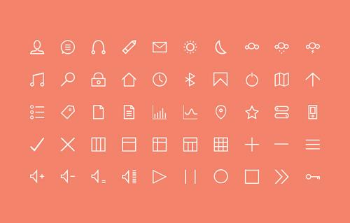 Free Stroke Icons Set (50 Icons)